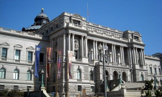 The Library of Congress, USA, is the largest library in the entire world as ranked by both shelf space and number of books.