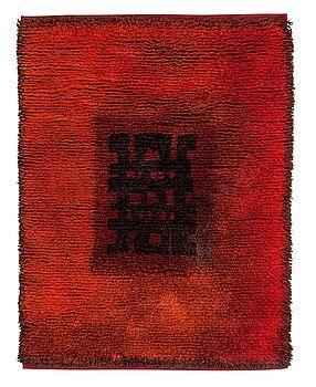 """MATTA. """"Loitsu"""" (""""Trollkväde""""). Rya. 155,5 x 115,5 cm. Komponerad av Ritva Puotila."""