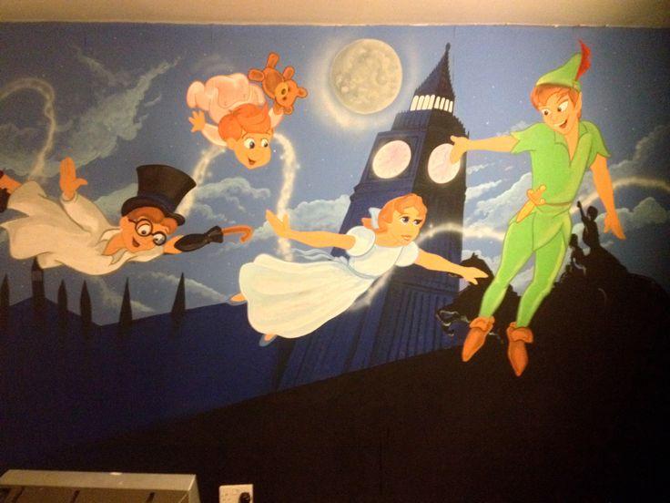 17 best images about disney room on pinterest sleeping peter pan mural 4 neverland wall mural wallpaper wall