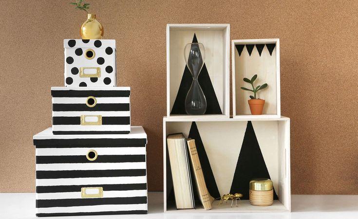 DIY: Fixa förvaringslådorna med färg – smart förvaring till hall och badrum