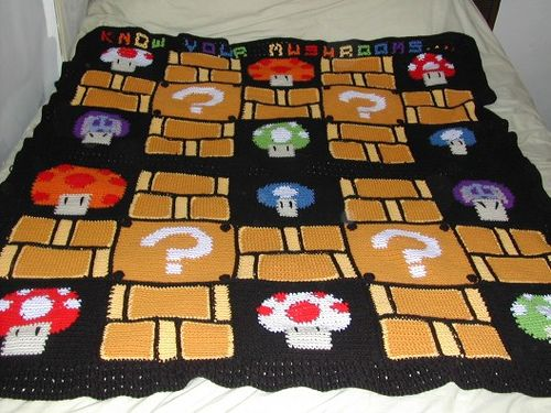 Mario Blanket Crochet Pattern Free : 17 Best images about Crochet Super Mario on Pinterest ...