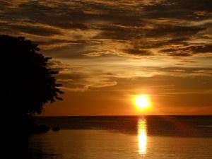 Mit einer der schönsten Sonnenuntergänge die ich je selber fotografiert habe.