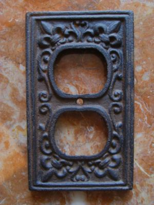 Mexican Hacienda Spanish Revival Tuscan Style Decor IRON OUTLET PLATE COVER New