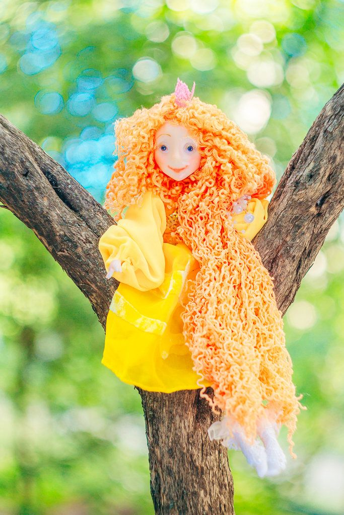 Handmade dolls Cute Fairy Montessori doll Colorful Rainbow Doll OOAK fairy doll kids toy