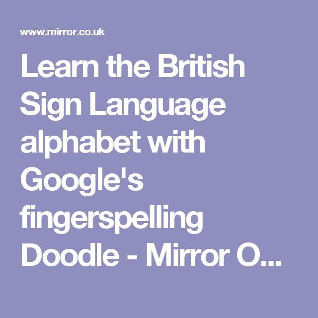 british sign language alphabet pdf