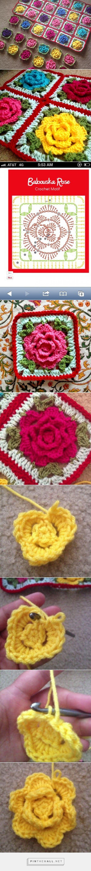 granny 65  Babouska Rose Blanket Tutorial | BabyLove Brand - created on 2015-09-19 17