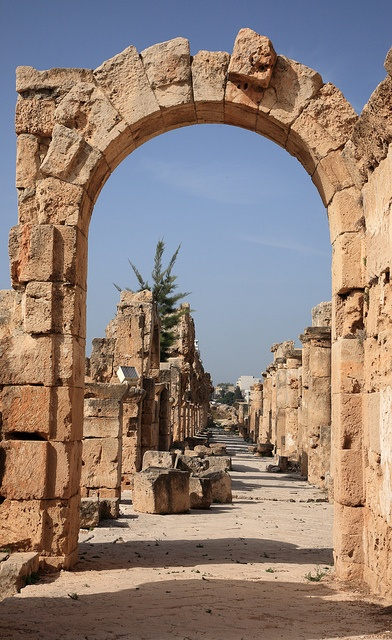 "Tyre, Lebanon: ""therefore this is what the Sovereign Lord says: I am against you, Tyre, and I will bring many nations against you, like the sea casting up its waves. They will destroy the walls of Tyre and pull down her towers; I will scrape away her rubble and make her a bare rock. Out in the sea she will become a place to spread fishnets, for I have spoken, declares the Sovereign Lord. She will become plunder for the nations,"" -Ezekiel 26:3-5 (NIV)"