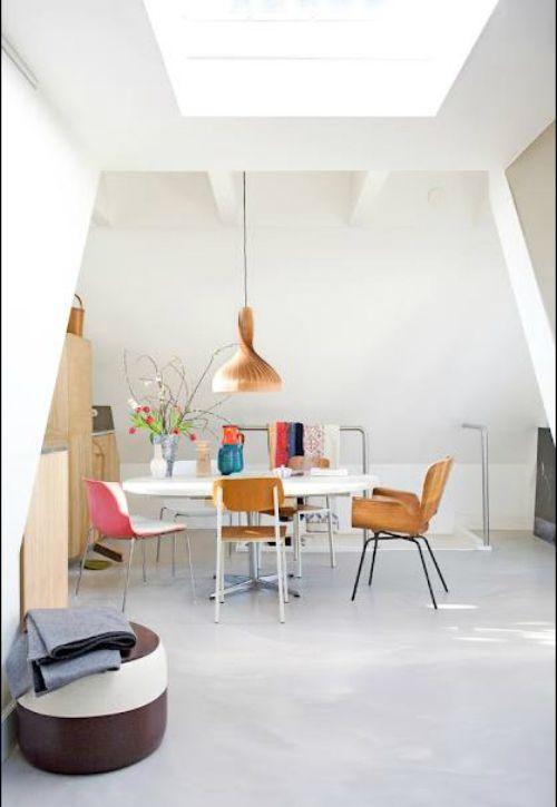 lichte betonvloer