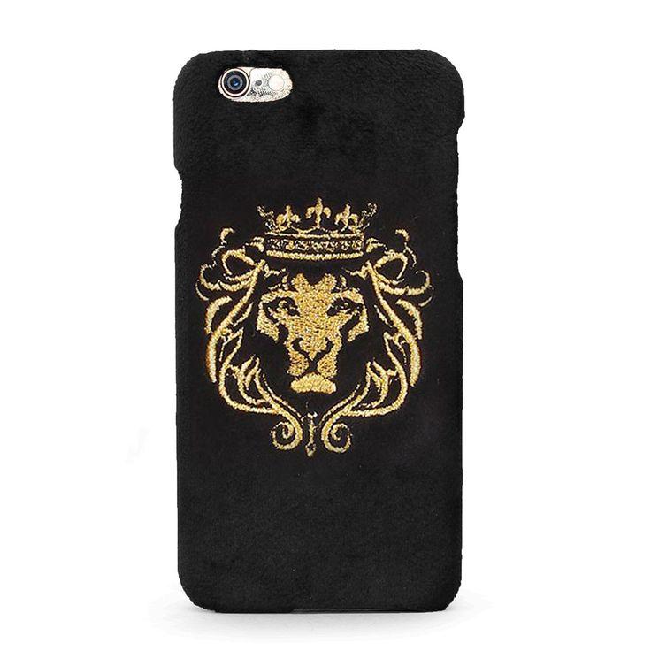 Buy online #GOLDEN #BLACK #VELVET #MOBILE #COVER @ voganow.com for Rs.1,499/-