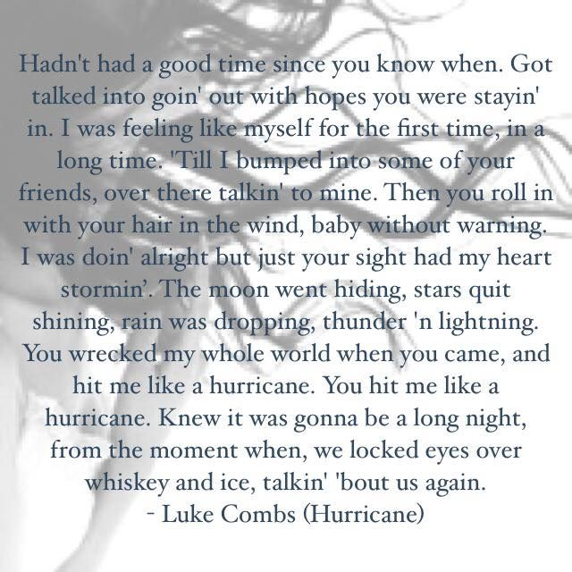 Luke Combs - Hurricane Love this song!!! Hits so close to home