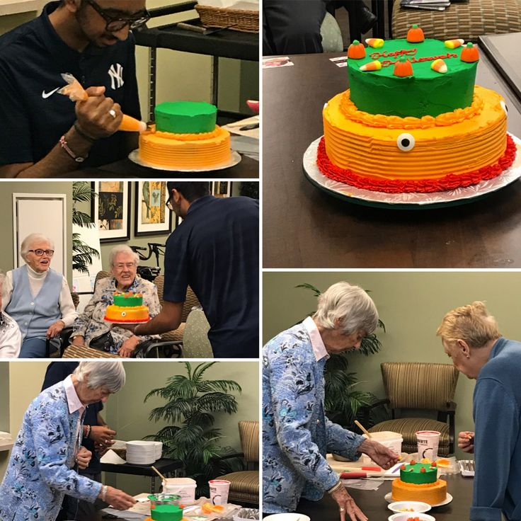 Mohammed is super talented & his passion for baking comes to life with our residents ! Everyone loved the Halloween themed cake decorating class! #richmondhillretirement