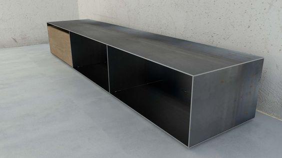 Designmetallmoebel Brennholz Sideboard Kaminholz Aufbewahrung Mit