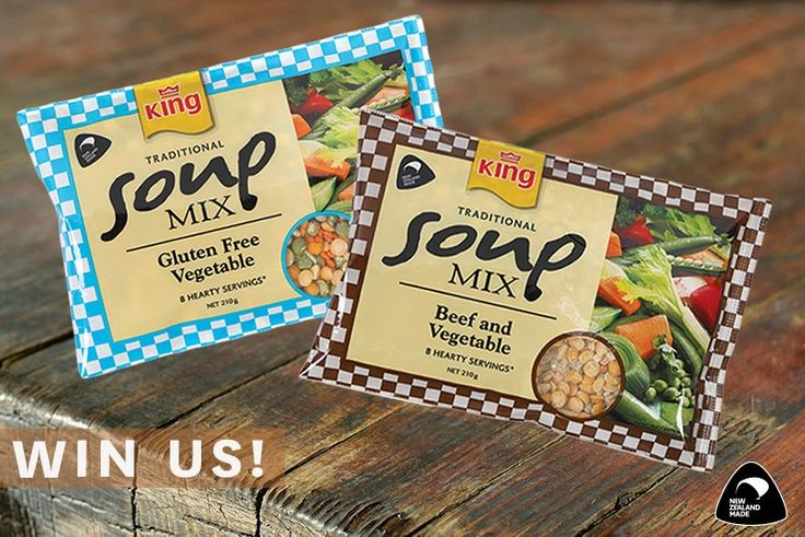WIN the new King Soup Mix flavours! Head over to our Twitter page now to enter. Open to NZ residents only. Drawn 23/08/2016 2pm NZST.  #nzwin #nzcomp #nzcompetition #nzmade #kingsoup