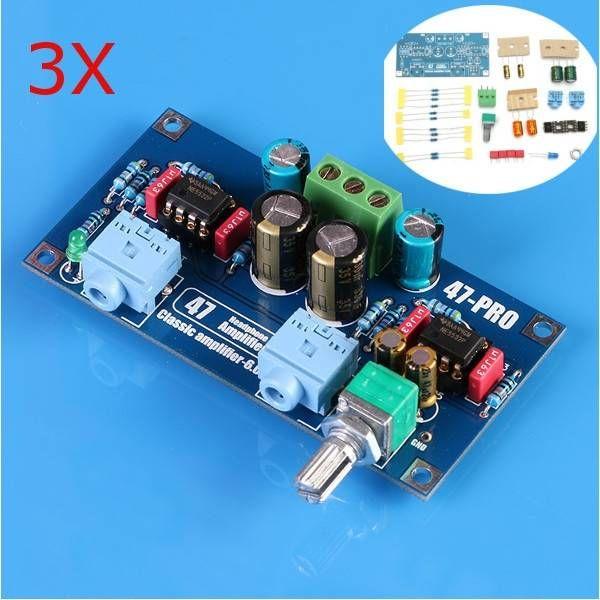 3Pcs 47 AMP 6V Classic Power Earphone Amplifier PCB DIY Electronic Kit