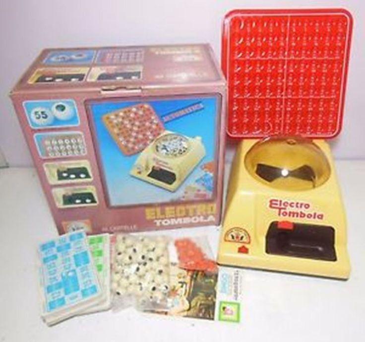 ELECTRO TOMBOLA Gioco da Tavolo Epoca Vintage Collezione