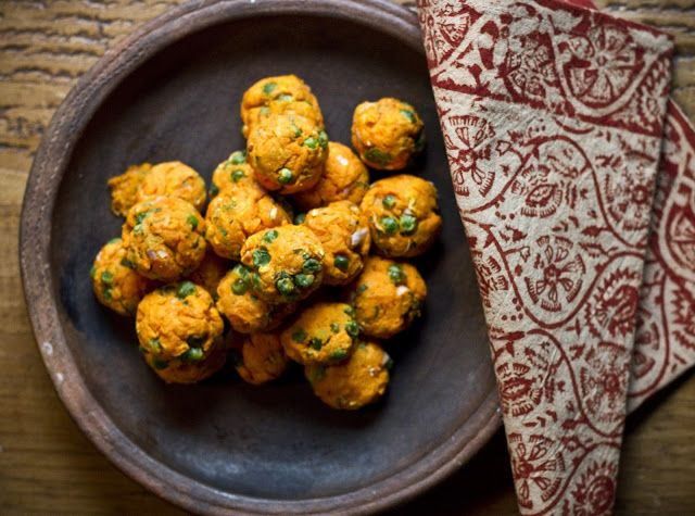 The Colors Of Indian Cooking: Yam Koftas, Gluten Free Holiday Party Poppers