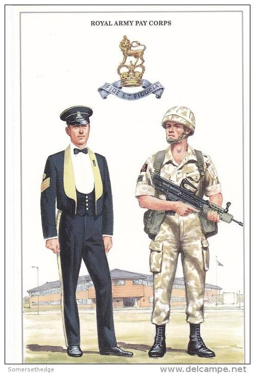 British; Royal Army Pay Corps Staff Sergeant, Mess Dress & Lance Corporal in Combat Dress