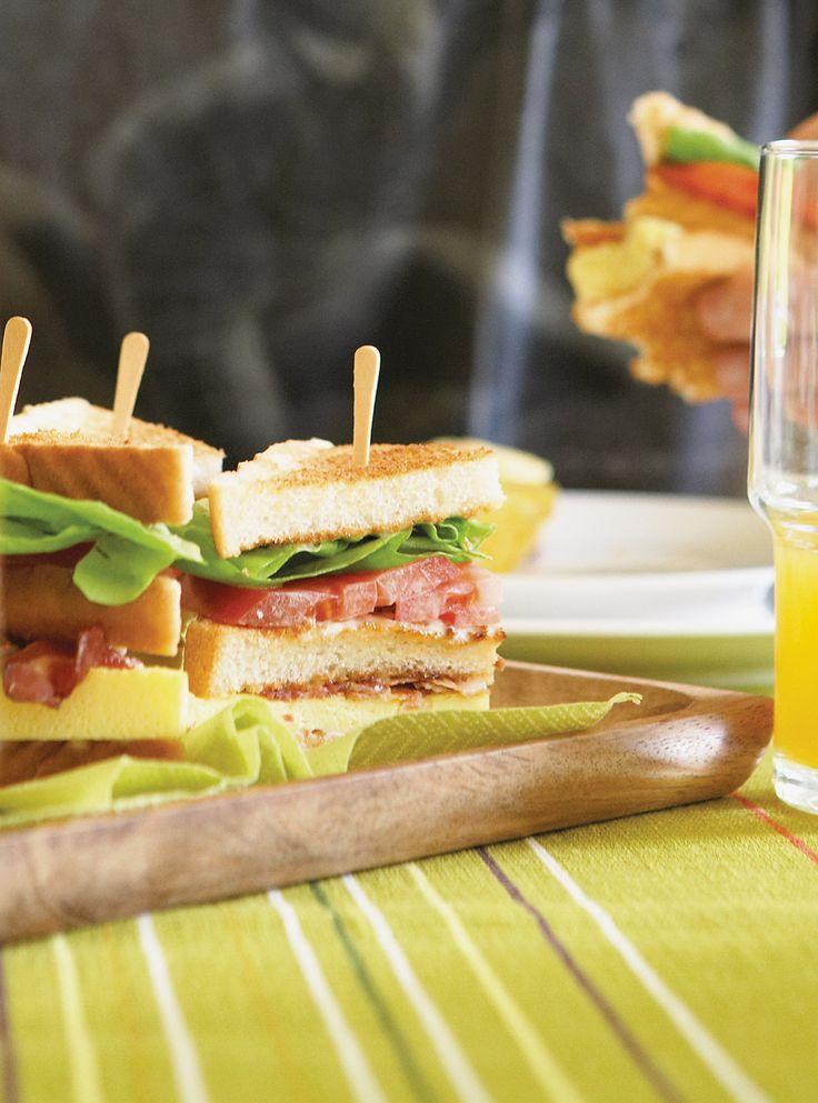 Recette de Ricardo de club sandwichs déjeuner