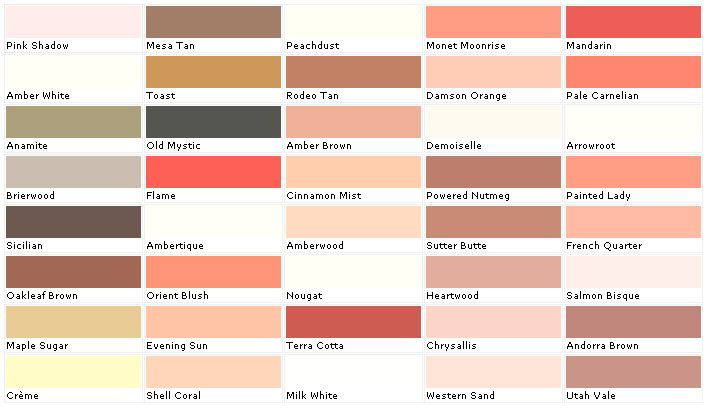 Ford M P Color Paint Chip Chart