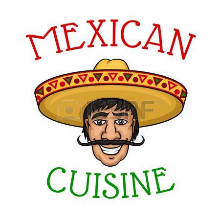 chef mexicano de dibujos animados alegre con los hombres con bigote cocinero en…