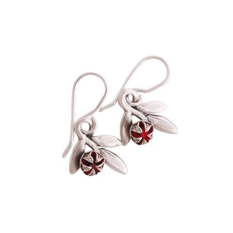RedManuka Sprig Earrings