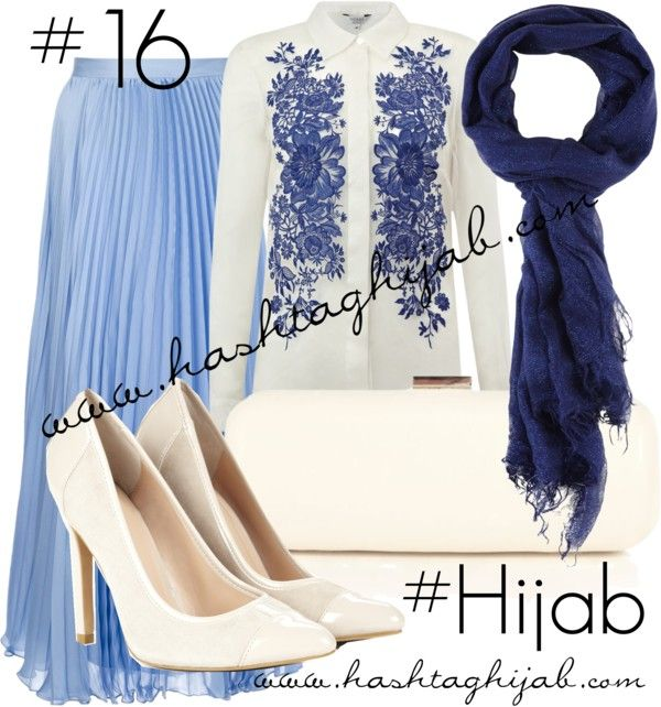 Hashtag Hijab Outfit #16 by hashtaghijab featuring a white purseHobbs floral button up shirt€160-johnlewis.comRalph Lauren Blue Label pleated skirt€435-farfetch.comSole Society heels & pumps€17-solesociety.comWarehouse white purse€15-debenhams.comSandwich wrap shawl€15-houseoffraser.co.uk