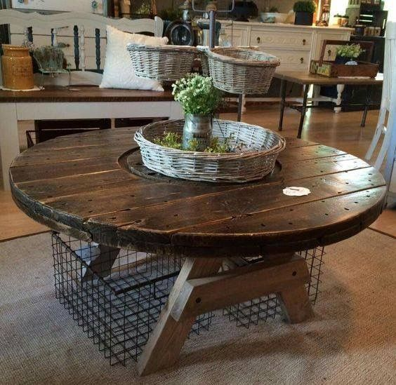 1000 ideas about spool tables on pinterest wire spool for Large wooden spools used for tables