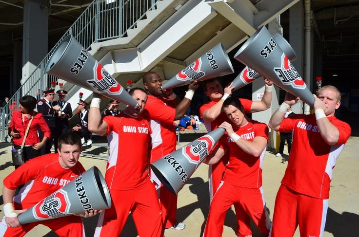 Ohio State Cheerleaders at the Gator Bowl Jan 2012.: Ohio State