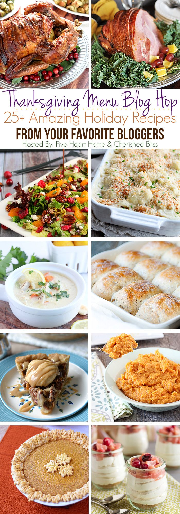 Over 25 Amazing Holiday Recipes From Your Favorite Bloggers! Make your Thanksgiving Menu Planning a snap!
