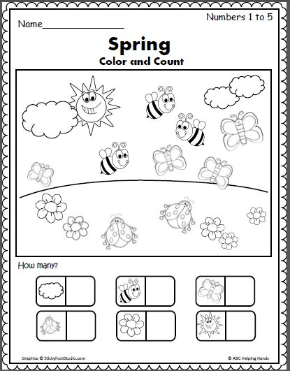 Spring Counting 1 to 5