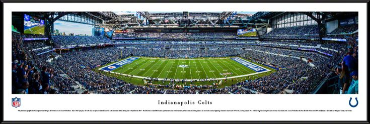 Indianapolis Colts Panoramic Picture - Lucas Oil Stadium Panorama - Standard Frame $99.95