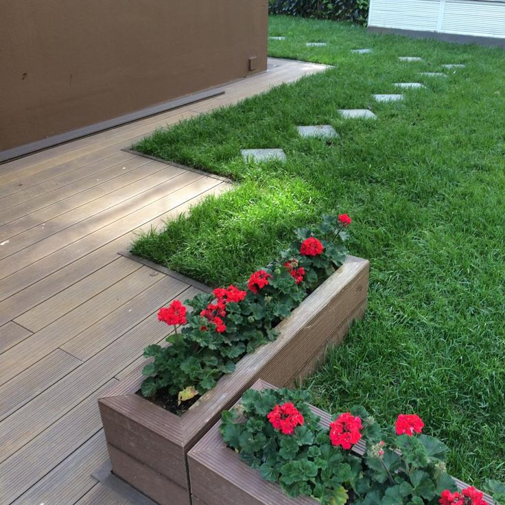 Composite Pvc Planter Boxes For Decks And Patios: #garden #flower #box Using Wpc Decking For Planter Boxes
