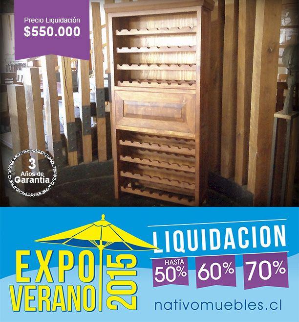 Mueble Cava Roble Precio Liquidación $550.000 sólo Stock  EXPO VERANO 2015 ... no te lo pierdas!!  Antes $1.100.000  Características: Ancho 90 x Fondo 35 x Altura 1.95 cms.