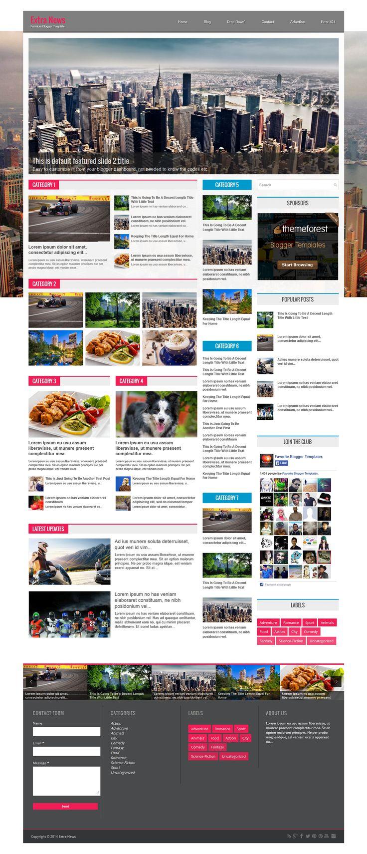 Ausgezeichnet Kostenlose Zeitschrift Blogger Vorlage Ideen ...