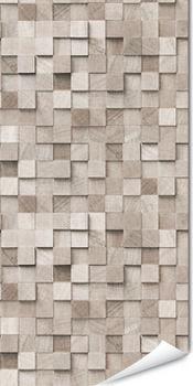 Papier peint imitation dallage bois carrés