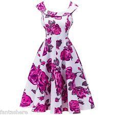 Retro Anos 50 Anos 60 Audrey Hepburn estilo Dona De Casa baile de formatura vestido de festa Swing Rockabilly
