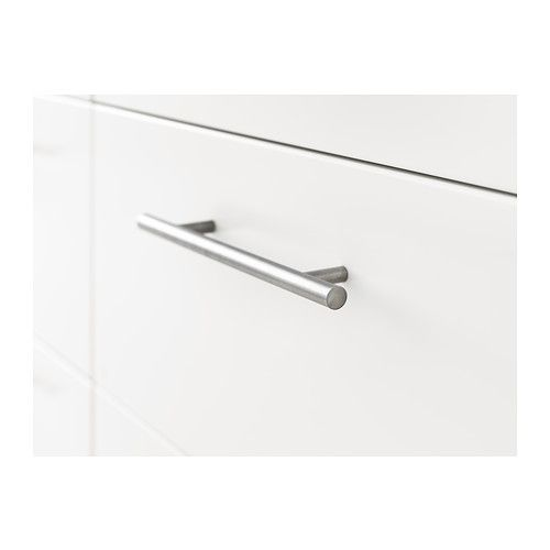 "LANSA Handle, stainless steel - stainless steel - 9 5/8 "" - IKEA"