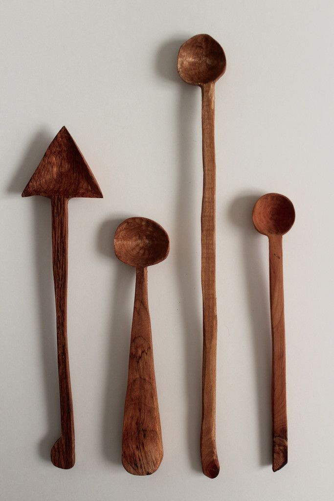 Hand carved wood spoons made in the USA.
