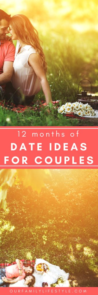 12 Months of Date Ideas for Couples with Printables - Months of Fun Date Ideas for Couples with Printables that includes cheap date ideas, at home date ideas, places to go on a date, and  romantic date ideas.