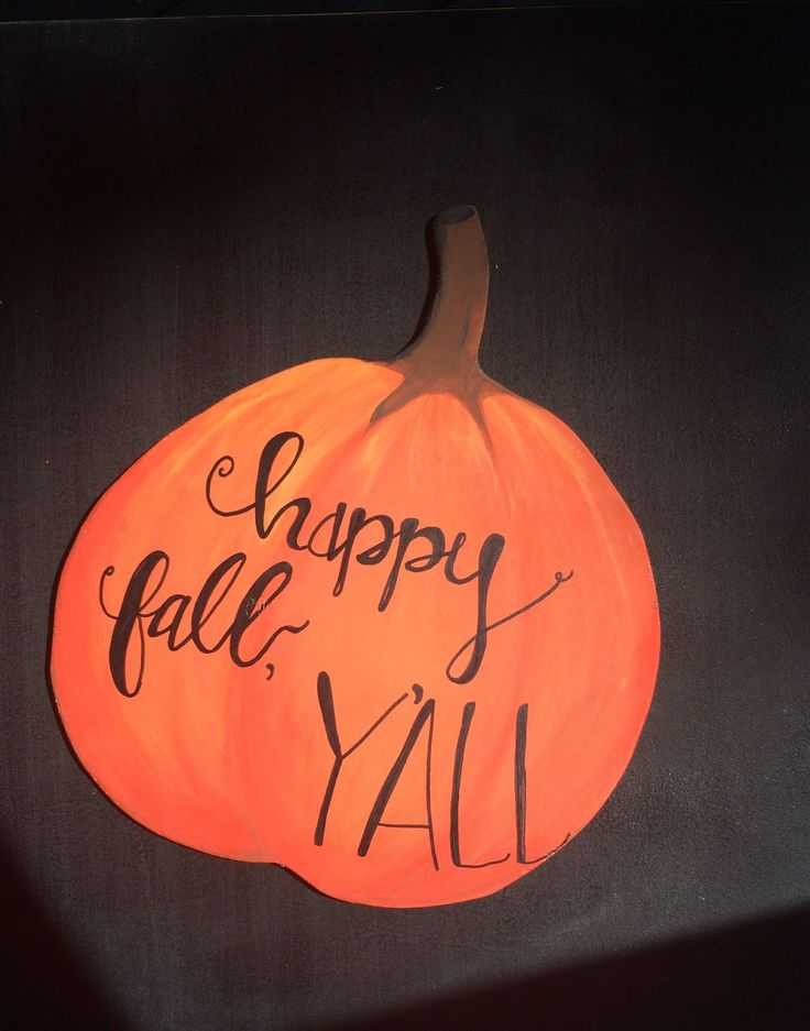 Happy Fall, Y'all Pumpkin Cut Out Sign, Hand Painted Hand Made Hand Lettering Pumpkin Sign Autumn Decor by Khicktiques on Etsy https://www.etsy.com/listing/532985080/happy-fall-yall-pumpkin-cut-out-sign