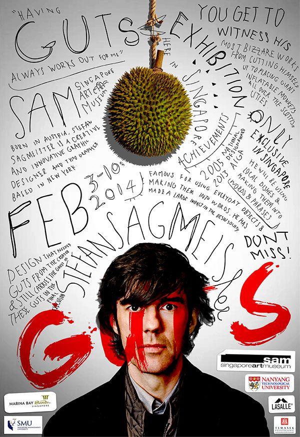 Cool layout  GUTS - Stefan Sagmeister by Lucy Tian, via Behance