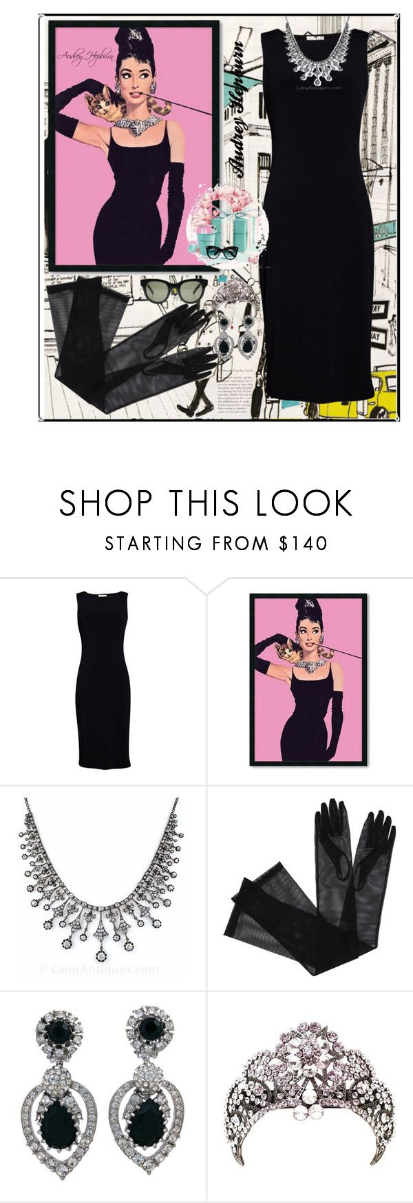 """""""Audrey ♡"""" by feerubal ❤ liked on Polyvore featuring Tiffany & Co., Velvet by Graham & Spencer, Amanti Art, Gucci, Ciner, CÉLINE, vintage, breakfastattiffany and queenvintage"""