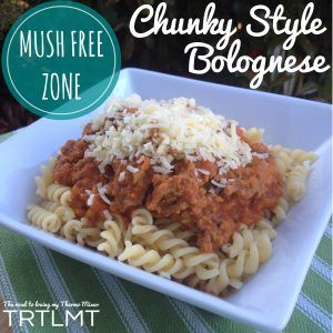 I am always asked for a chunkier style bolognese. I posted last year about using the rice basket