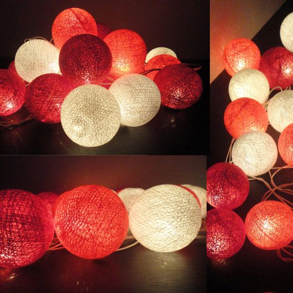 Red String Lights For Bedroom : 17 Best images about DIY - Cotton Ball Lights on Pinterest Cotton ball lights, String lights ...