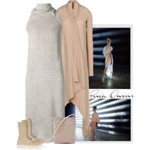rick owens dress and cardi