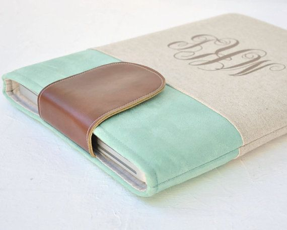 Macbook Pro Sleeve, MacBook Pro Case, Monogrammed, Personalized Case @Tori Sdao Sdao Hope