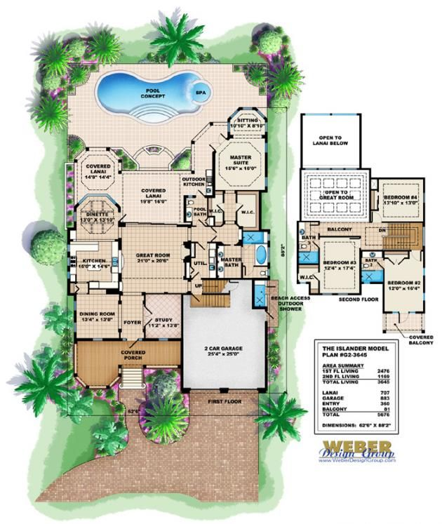 Old florida house design islander house plan weber for Weber house plans