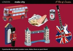 A bit of London Postcards - To make into London icons | Paper Products Online