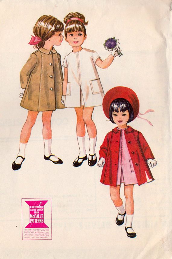 1960s Girls Button Back Dress and Coat Vintage by MissBettysAttic, $6.00