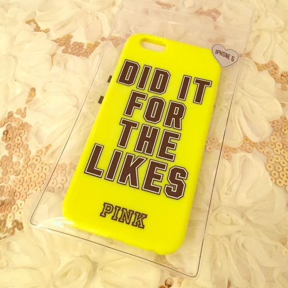 VS Pink IPhone 6 Case Super fun bright colored IPhone 6 case from Victoria's Secret Pink. Brand new in package. Price is firm. No trades. Bundle and save! PINK Victoria's Secret Accessories Phone Cases